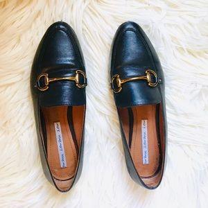 Genuine Leather Equestrian Horsebit Loafer Flats